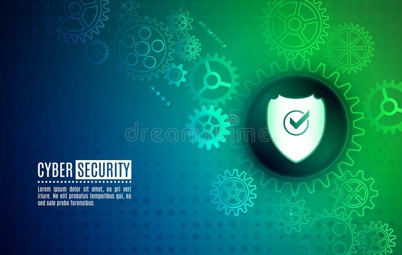 事务和互联网项目的Cybersecurity 皇族释放例证