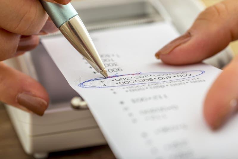事务和会计概念 免版税库存照片