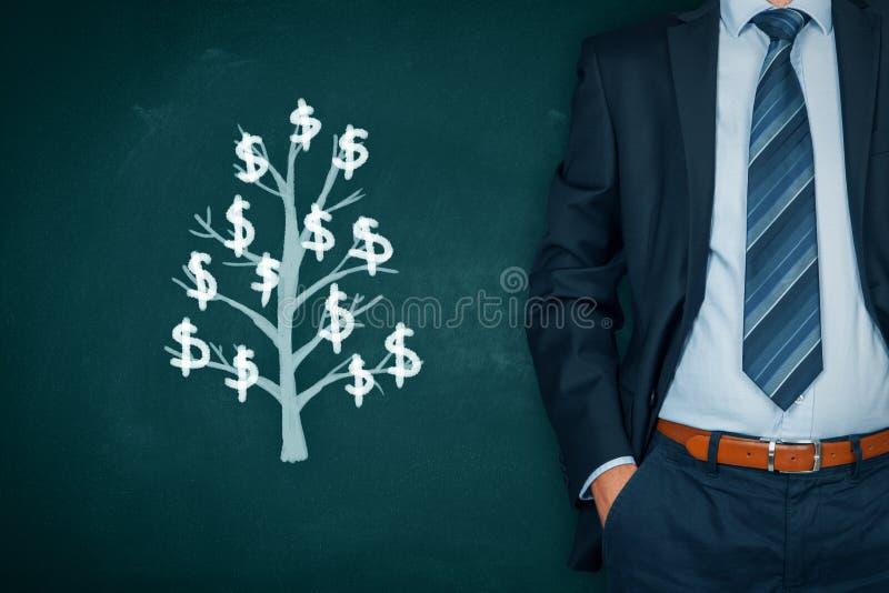 事务和财政成长 免版税图库摄影