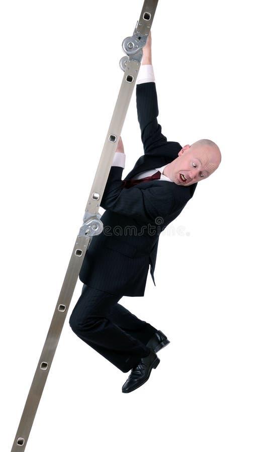 事务害怕的梯子  免版税库存照片