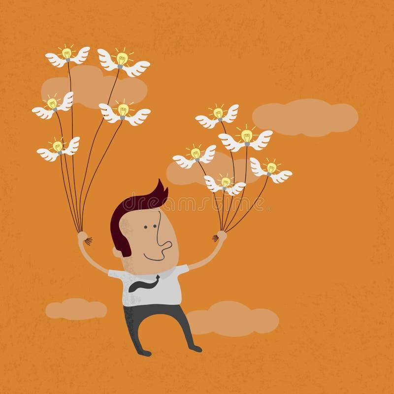 事务的创造性导致成功 向量例证