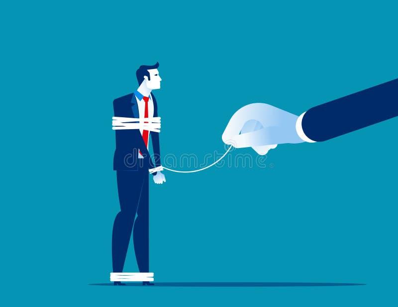 事务的力量 传染媒介例证竞争企业概念 设陷井,问题,风险,上司,平的企业动画片 皇族释放例证