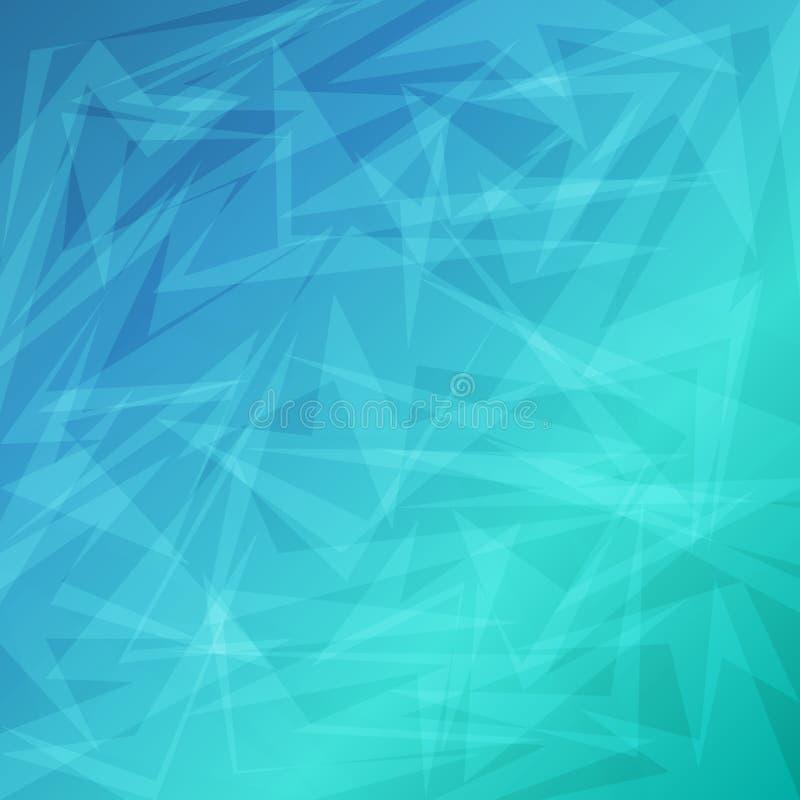 事务的蓝色明亮的抽象几何背景 库存例证