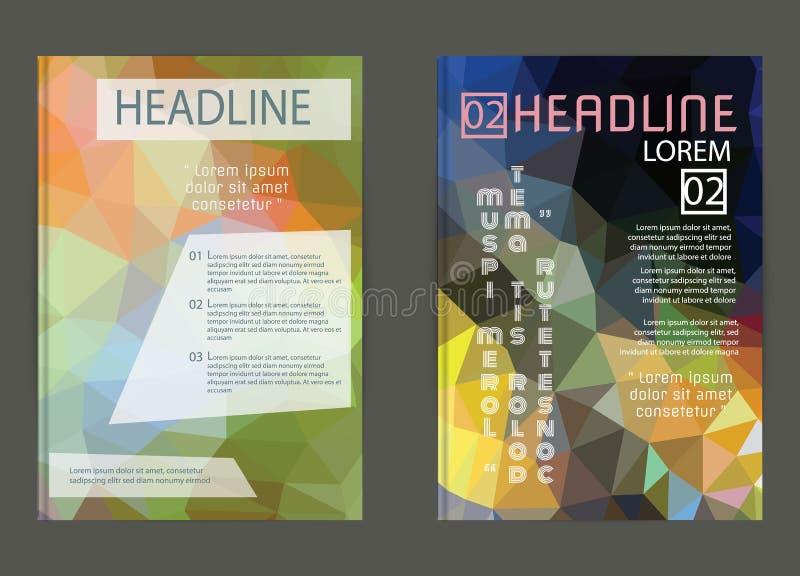 事务的Docume传染媒介海报模板抽象背景 皇族释放例证