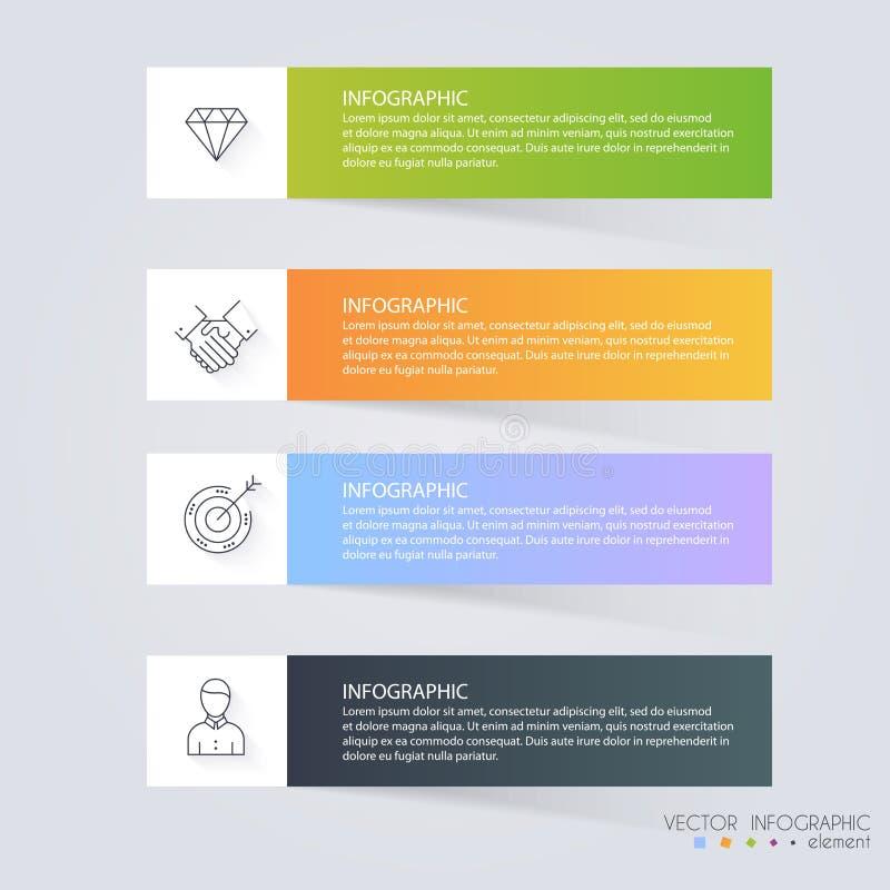 事务的Infographic模板 能为网站layo使用 皇族释放例证
