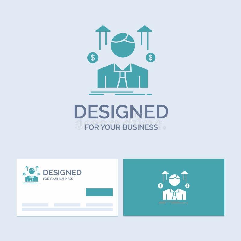 事务,人,具体化,雇员,销售人企业商标纵的沟纹您的事务的象标志 r 向量例证