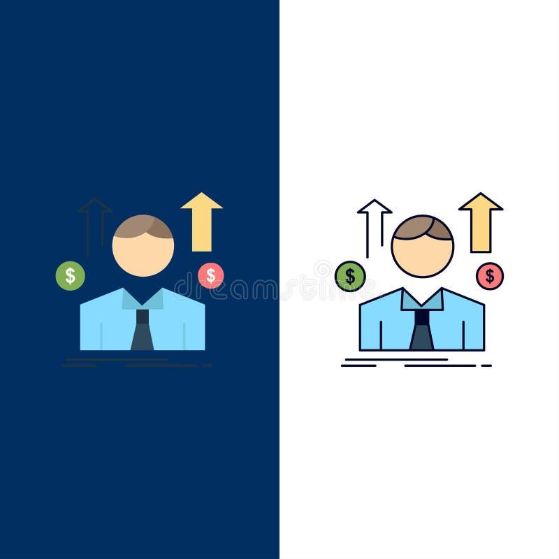 事务,人,具体化,雇员,销售供以人员平的颜色象传染媒介 库存例证