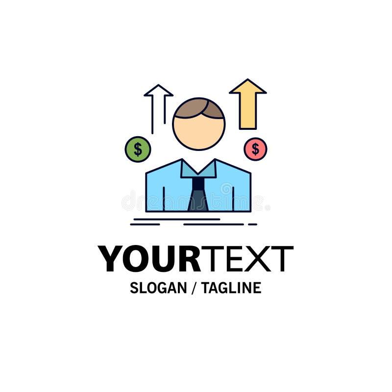 事务,人,具体化,雇员,销售供以人员平的颜色象传染媒介 向量例证