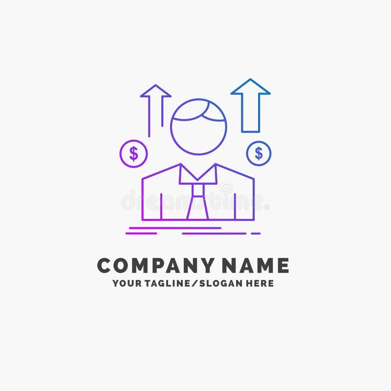 事务,人,具体化,雇员,销售供以人员紫色企业商标模板 r 皇族释放例证