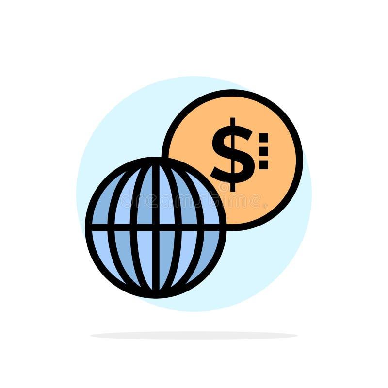 事务,全球性,市场,现代抽象圈子背景平的颜色象 向量例证
