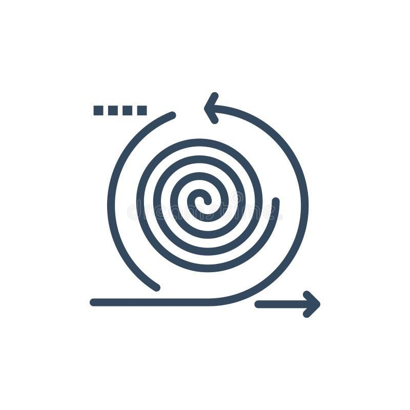 事务,周期,叠代,管理,产品平的颜色象 传染媒介象横幅模板 向量例证