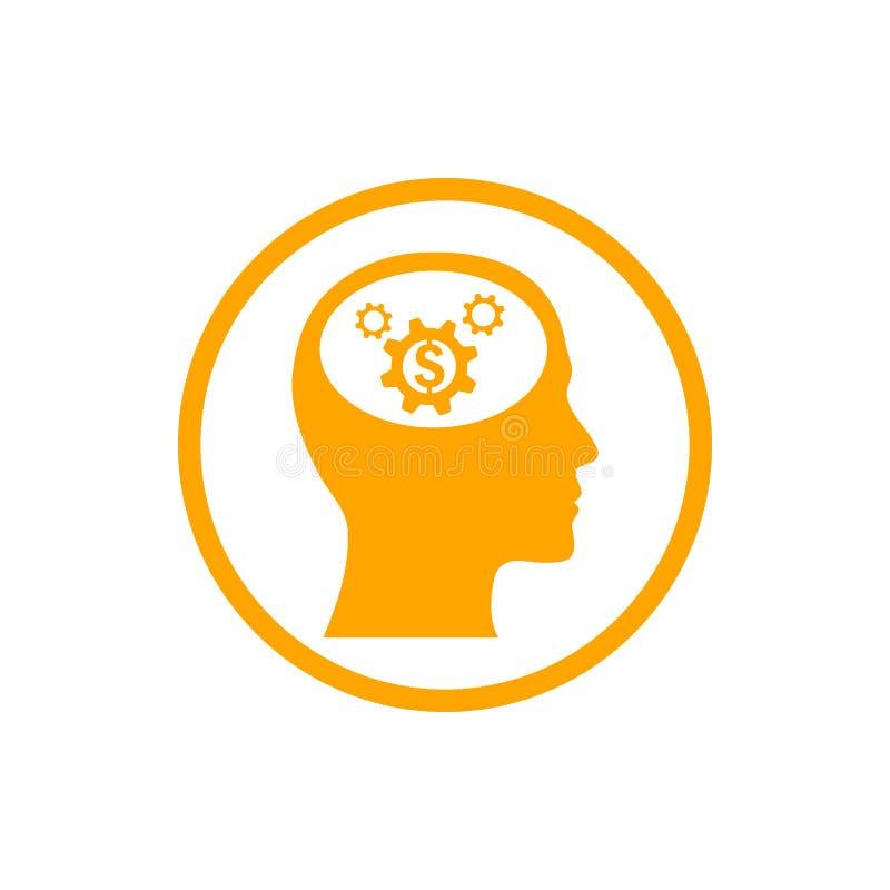 事务,开发,设置,创新,创造性的想法管理橘黄色象 库存例证
