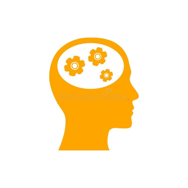 事务,开发,设置,创新,创造性的想法管理橘黄色象 向量例证