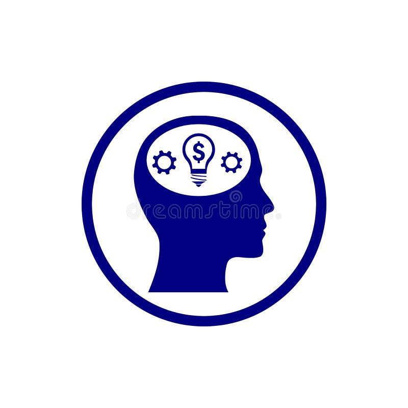 事务,开发,设置,创新,创造性的想法管理水军蓝色颜色象 库存例证