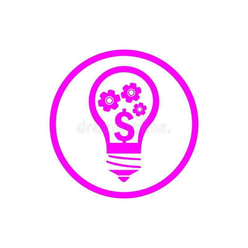 事务,开发,设置,创新,创造性的想法管理洋红色颜色象 向量例证