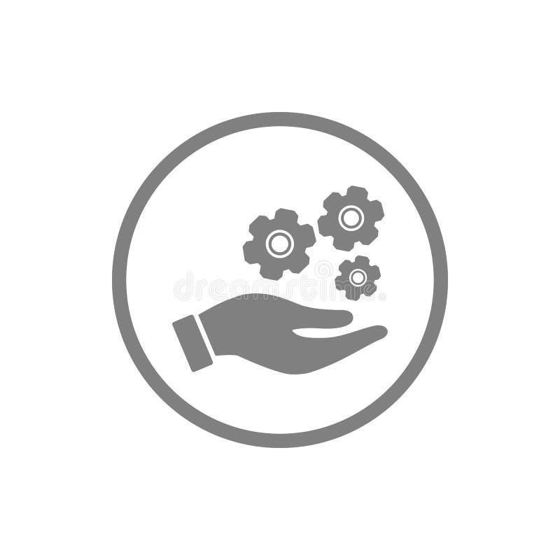 事务,开发,设置,创新,创造性的想法管理灰色颜色象 库存例证