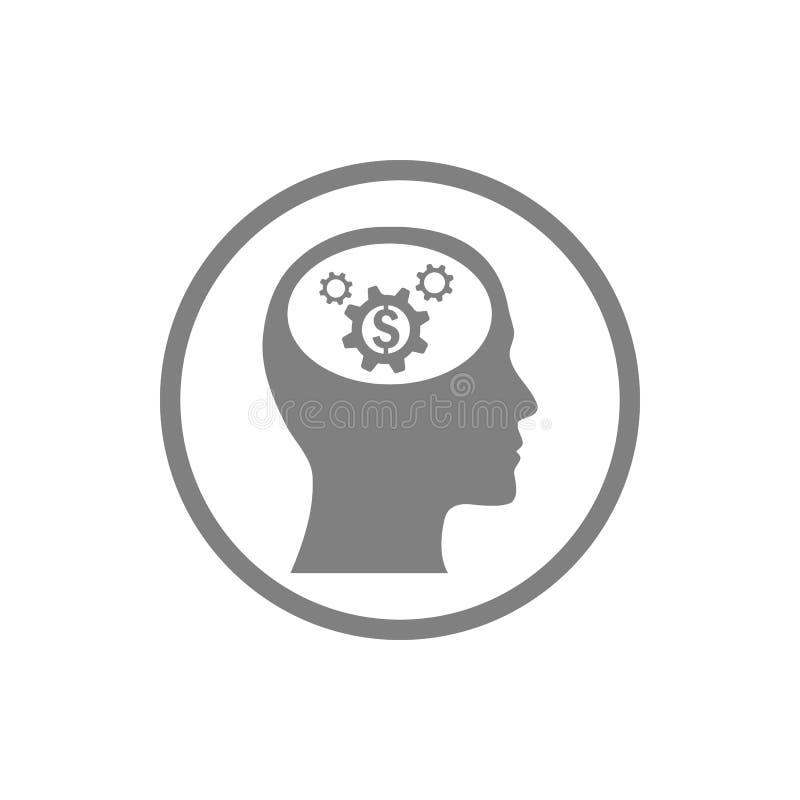 事务,开发,设置,创新,创造性的想法管理灰色颜色象 皇族释放例证