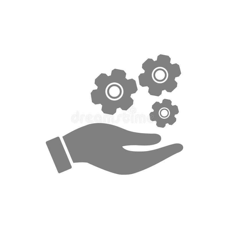 事务,开发,设置,创新,创造性的想法管理灰色颜色象 向量例证