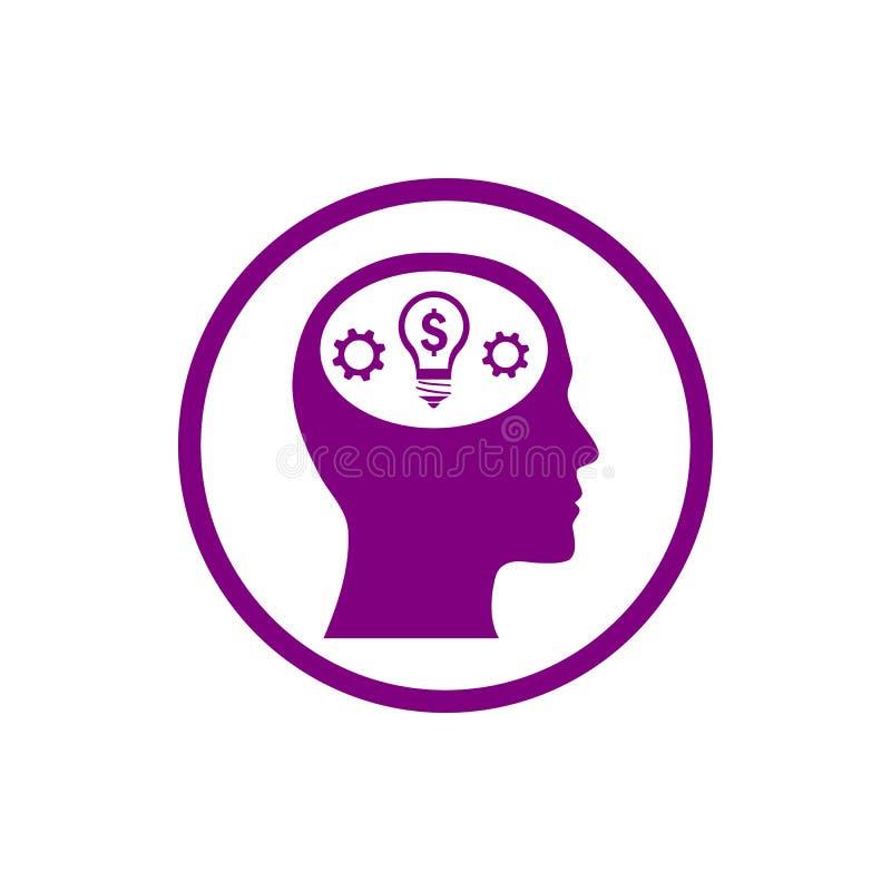 事务,开发,设置,创新,创造性的想法管理紫色颜色象 向量例证