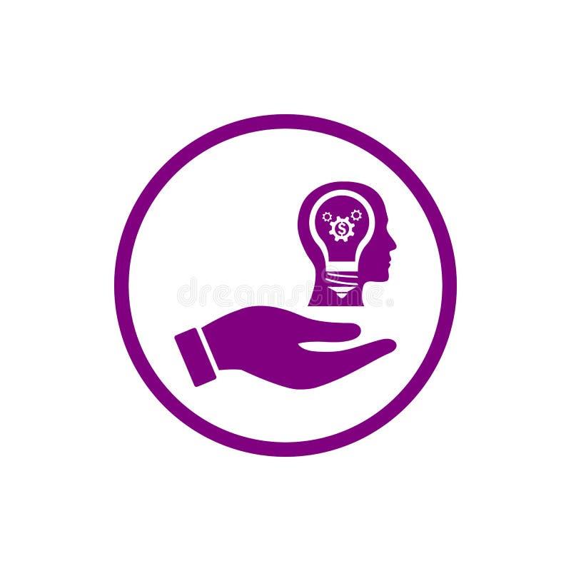 事务,开发,设置,创新,创造性的想法管理紫色颜色象 库存例证