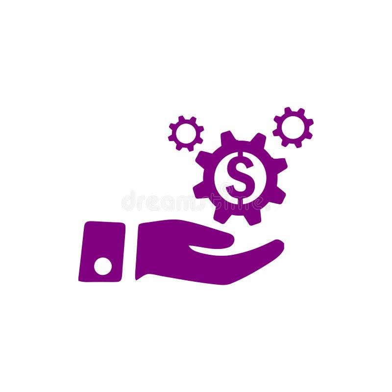 事务,开发,设置,创新,创造性的想法管理紫色颜色象 皇族释放例证