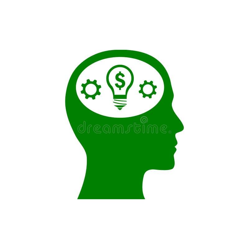 事务,开发,设置,创新,创造性的想法管理绿色象 库存例证