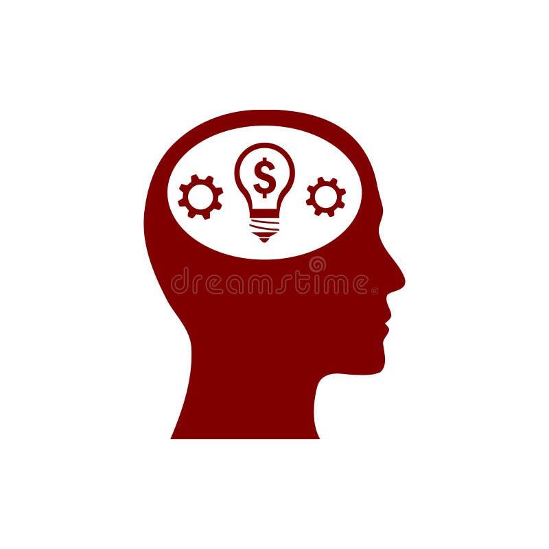 事务,开发,设置,创新,创造性的想法管理褐红的颜色象 皇族释放例证