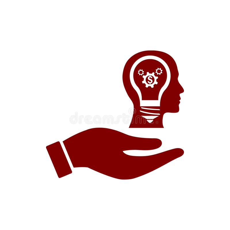 事务,开发,设置,创新,创造性的想法管理褐红的颜色象 向量例证