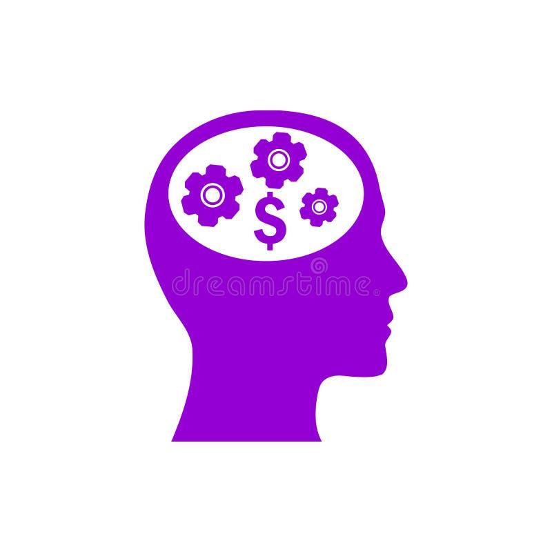 事务,开发,设置,创新,创造性的想法管理黑暗的紫罗兰色颜色象 库存例证