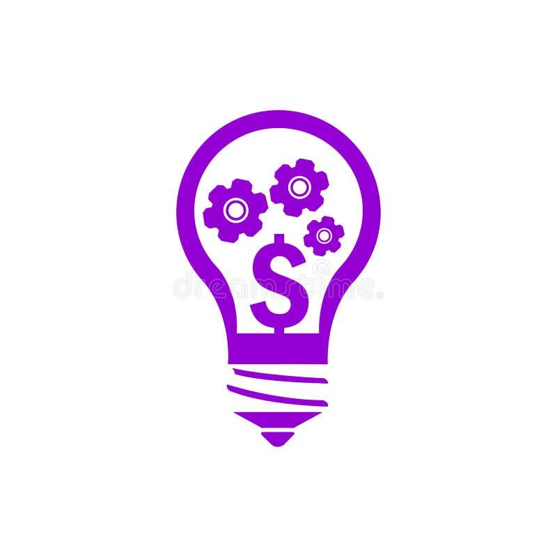事务,开发,设置,创新,创造性的想法管理黑暗的紫罗兰色颜色象 向量例证