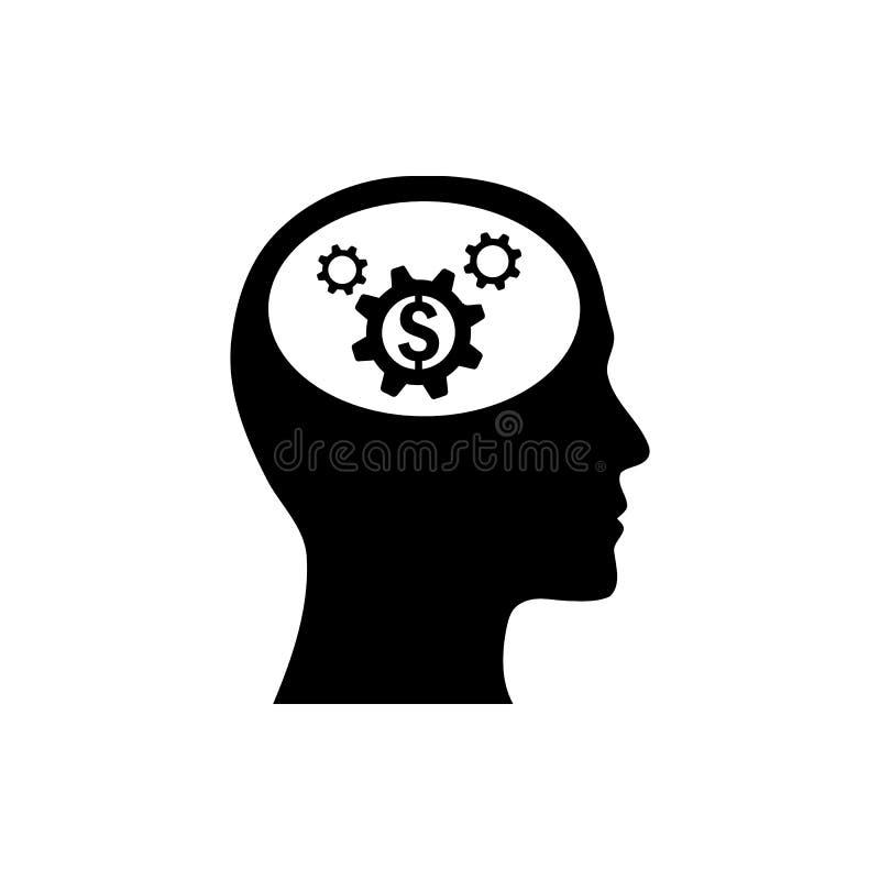 事务,开发,设置,创新,创造性的想法管理黑色象 库存例证