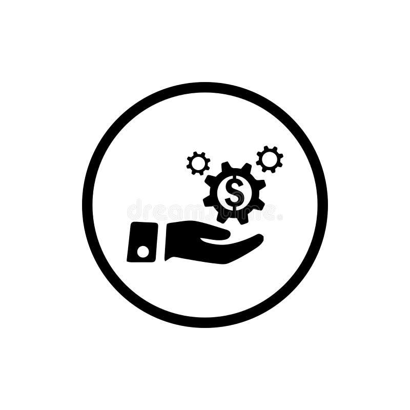 事务,开发,设置,创新,创造性的想法管理黑色象 皇族释放例证