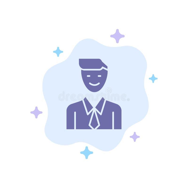 事务,执行委员,工作,人,在抽象云彩背景的选择蓝色象 向量例证