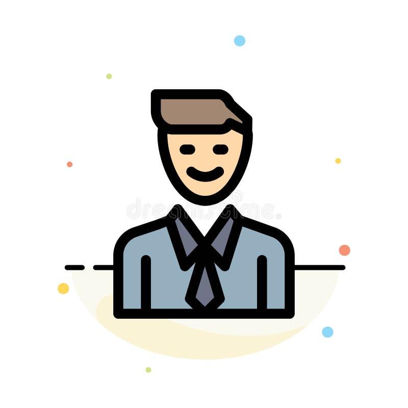 事务,执行委员,工作,人,选择摘要平的颜色象模板 向量例证
