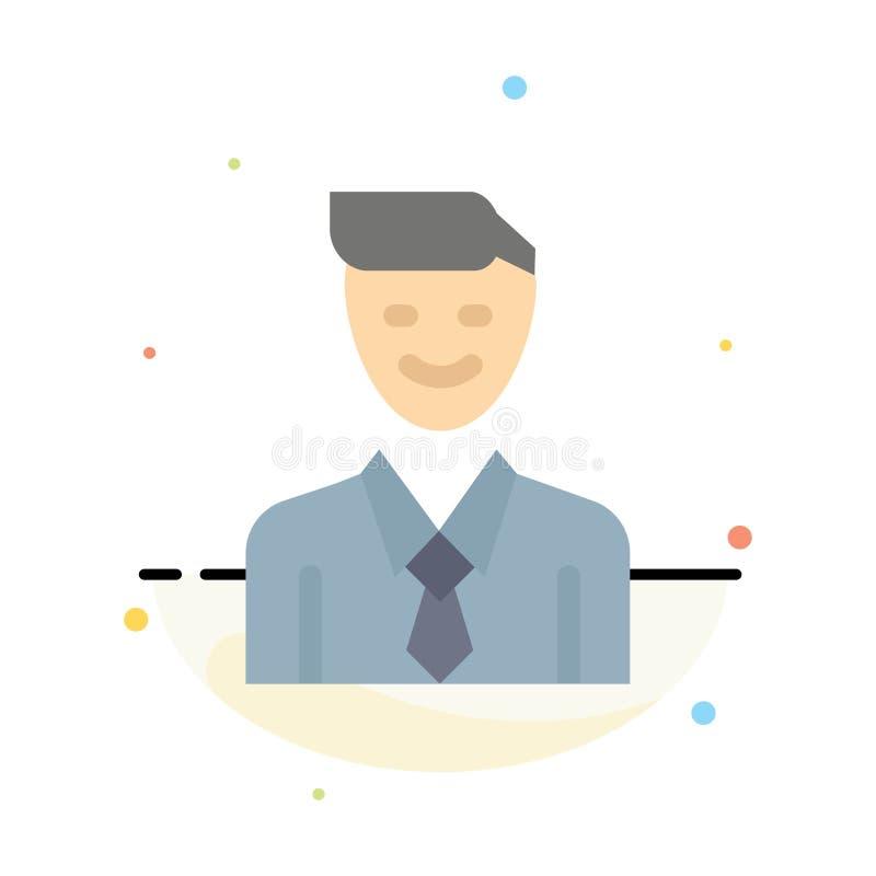 事务,执行委员,工作,人,选择摘要平的颜色象模板 库存例证
