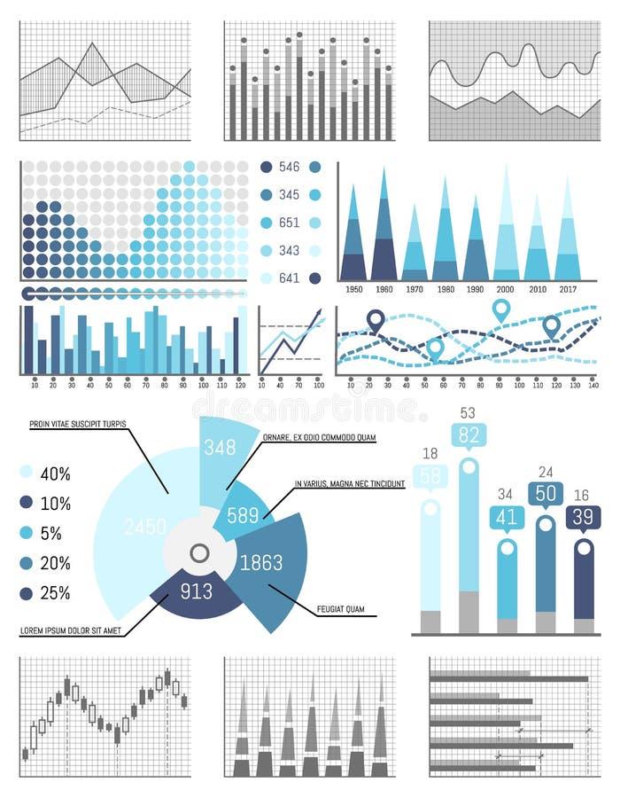 事务,数据流程图视觉信息呈现 库存例证