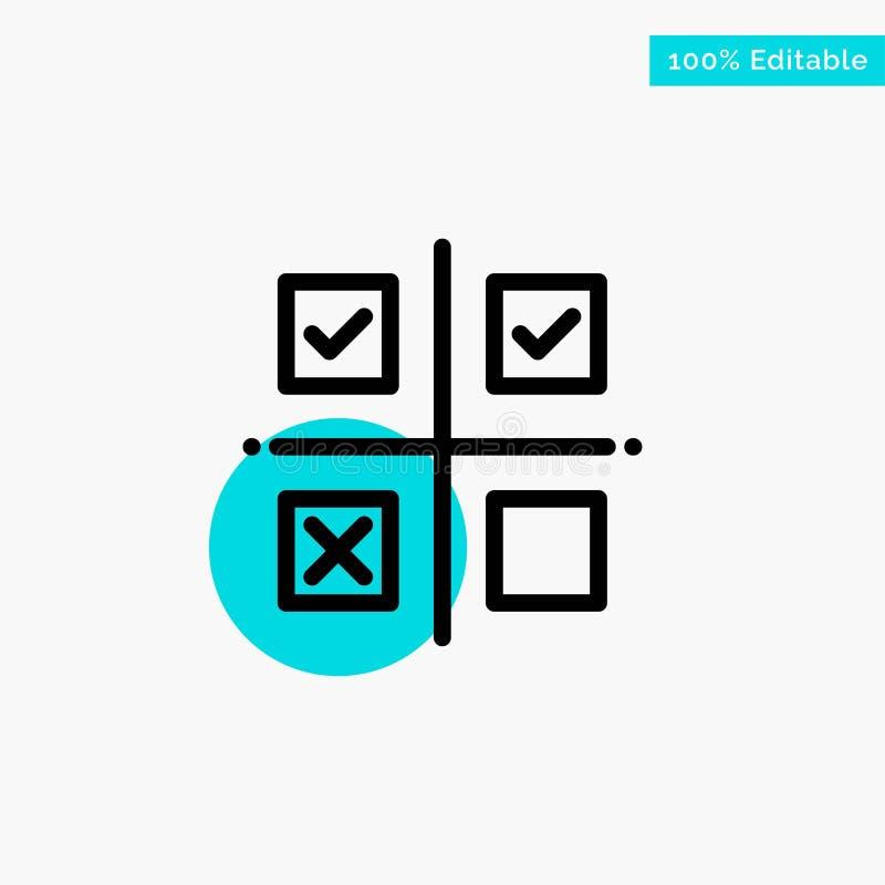 事务,管理,优先权,产品,生产绿松石聚焦圈子点传染媒介象 库存例证