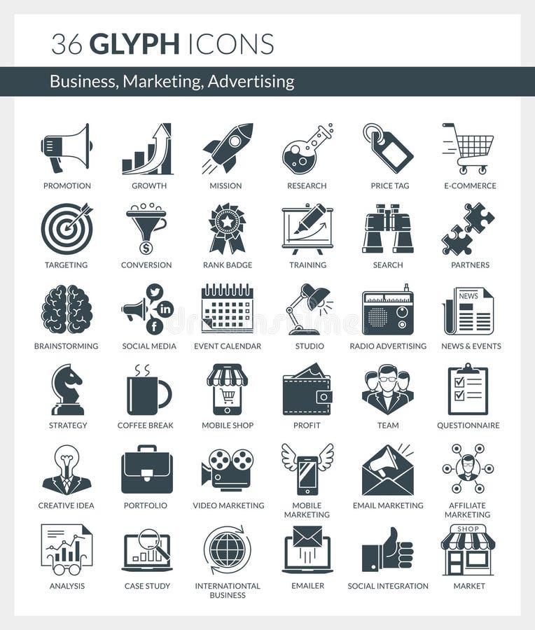 事务,营销,广告象 库存例证