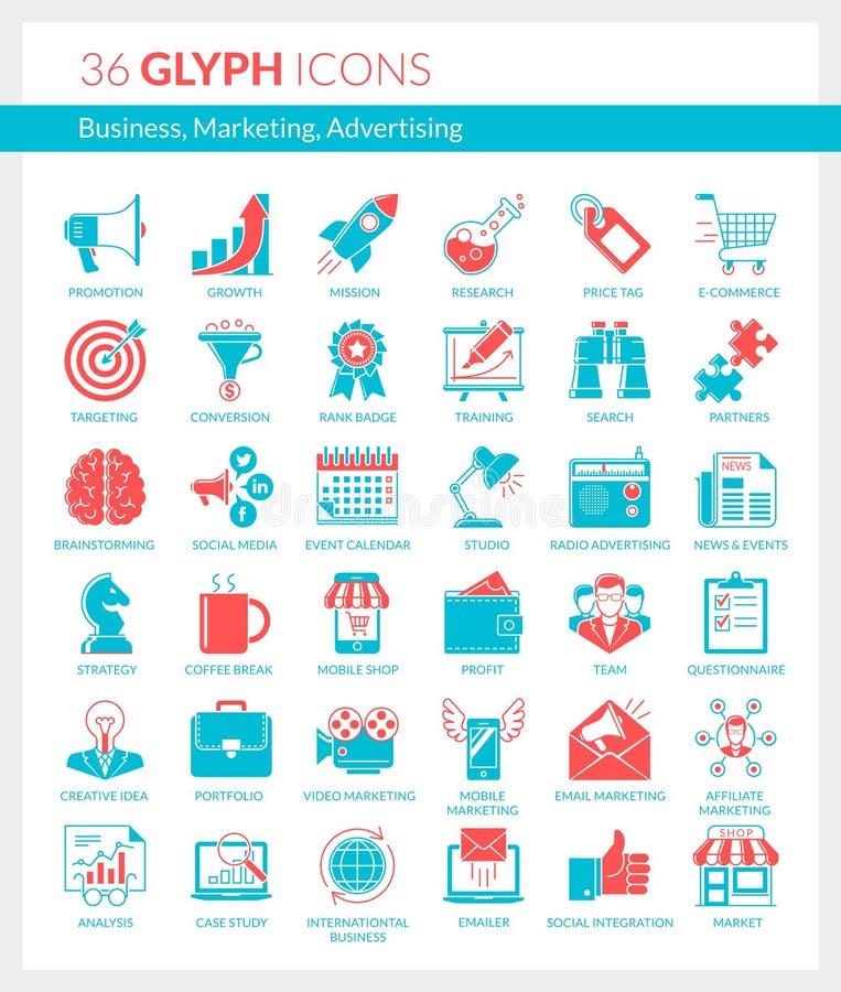 事务,营销,广告象 向量例证