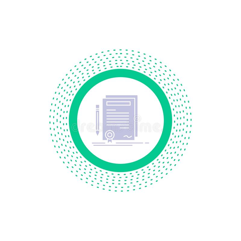 事务,证明,合同,程度,文件纵的沟纹象 r 向量例证