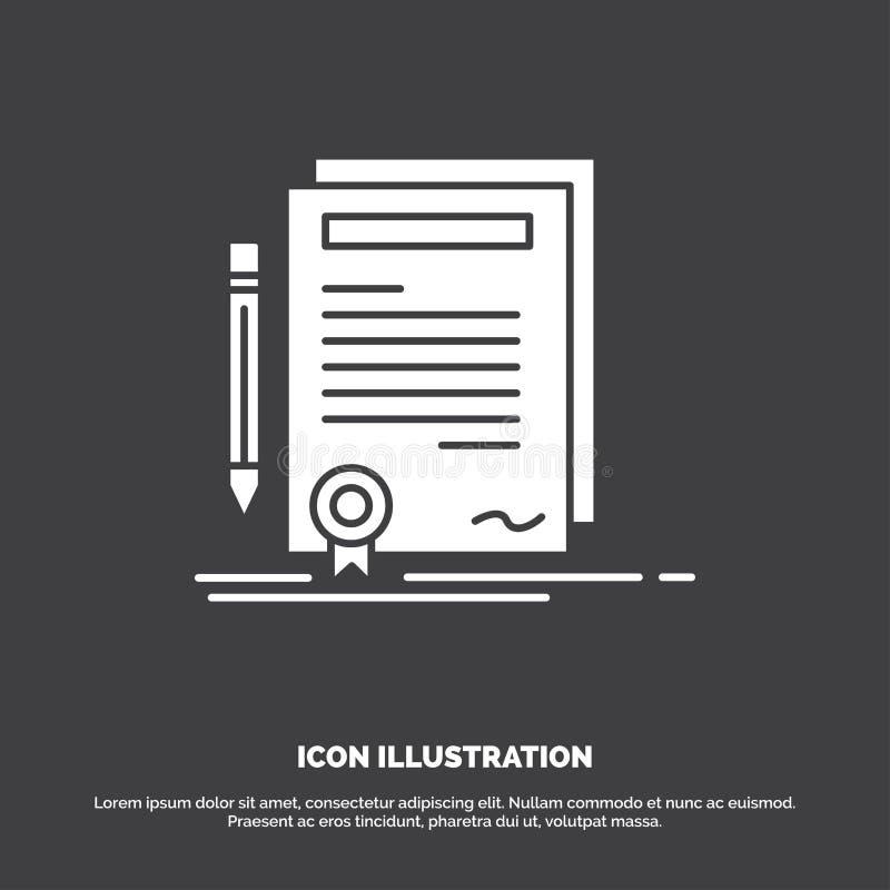 事务,证明,合同,程度,文件象 r 库存例证