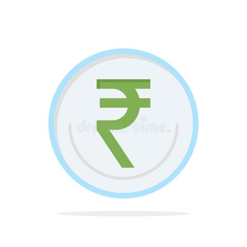 事务,货币,财务,印度人,Inr,卢比,商业抽象圈子背景平的颜色象 向量例证