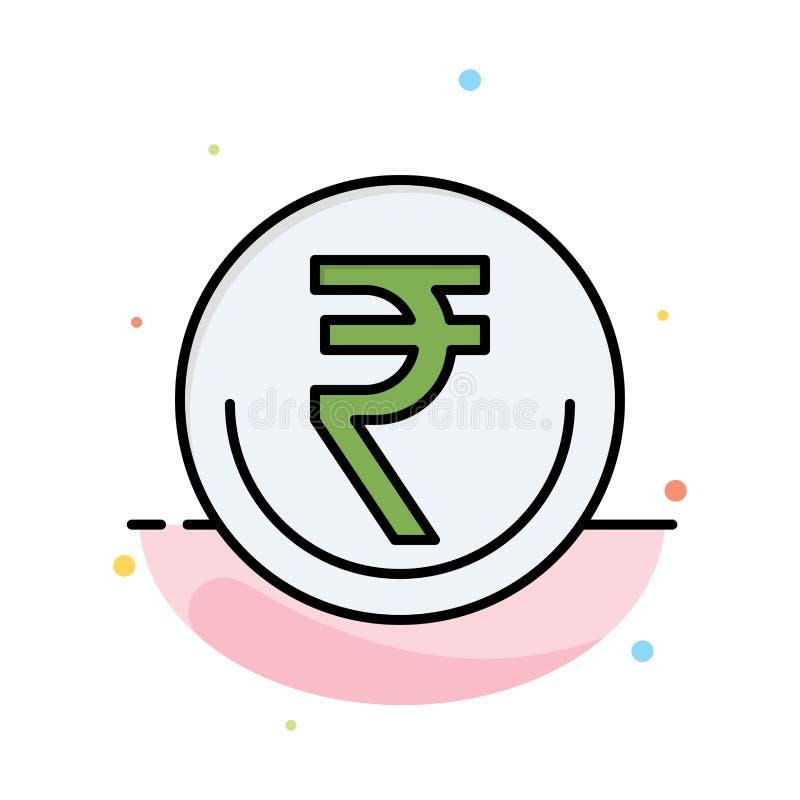 事务,货币,财务,印度人,Inr,卢比,商业抽象平的颜色象模板 向量例证