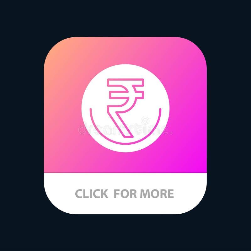 事务,货币,财务,印度人,Inr,卢比,商业流动应用程序按钮 机器人和IOS纵的沟纹版本 库存例证