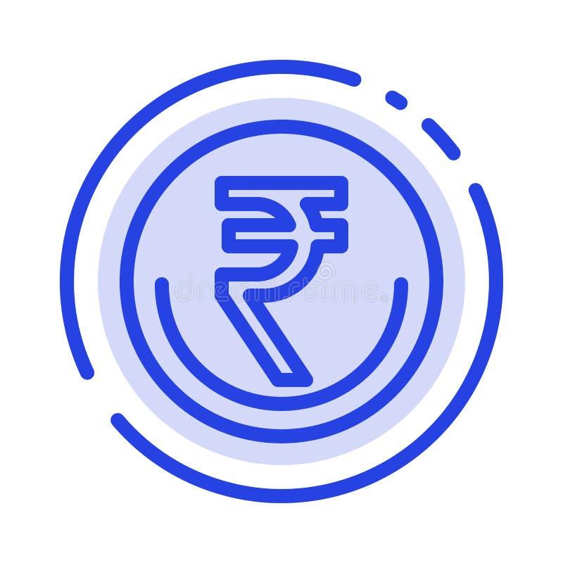 事务,货币,财务,印度人,Inr,卢比,商业蓝色虚线线象 皇族释放例证