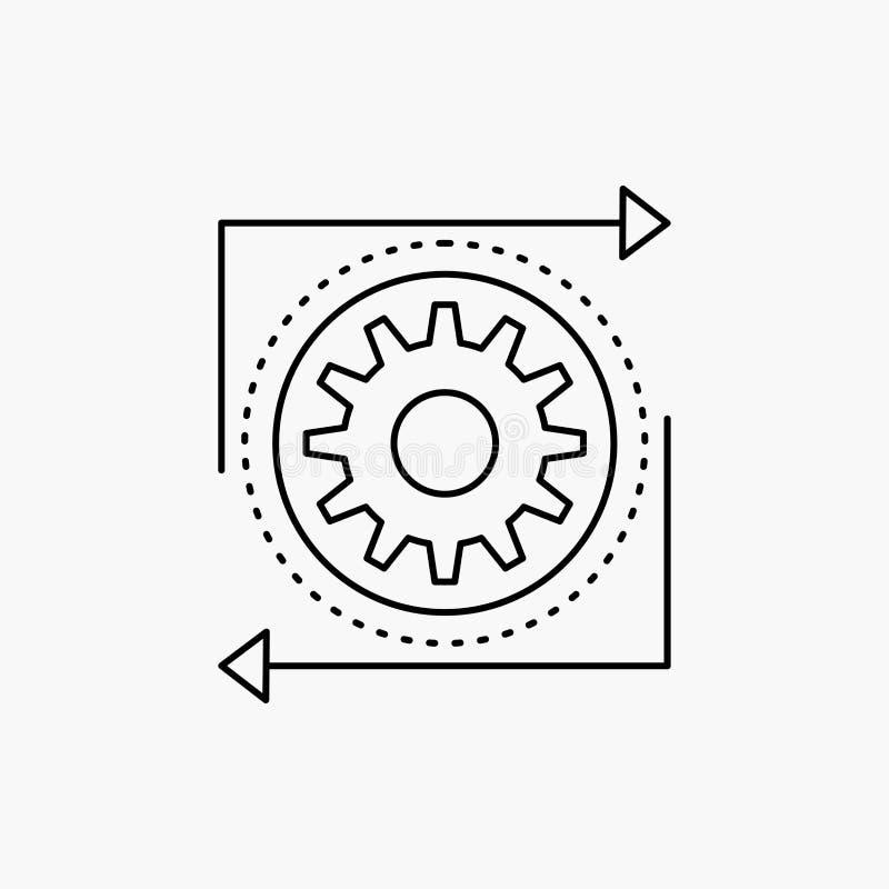 事务,齿轮,管理,操作,生产流水线象 r 库存例证