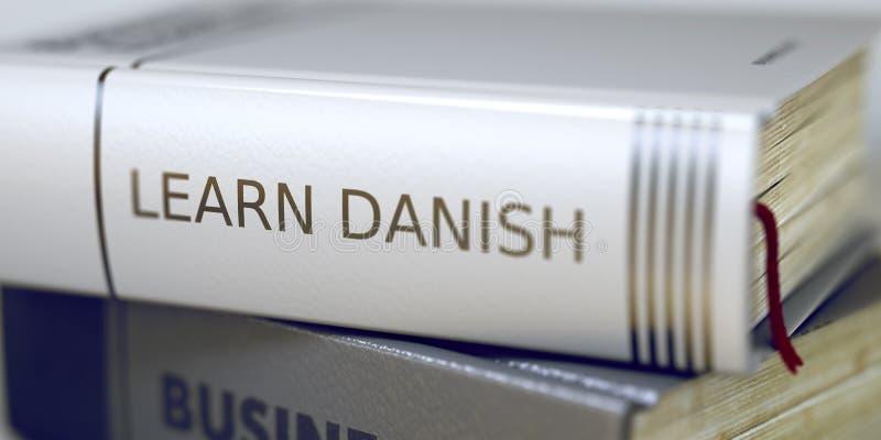 事务-书标题 学会丹麦语 3d 库存例证