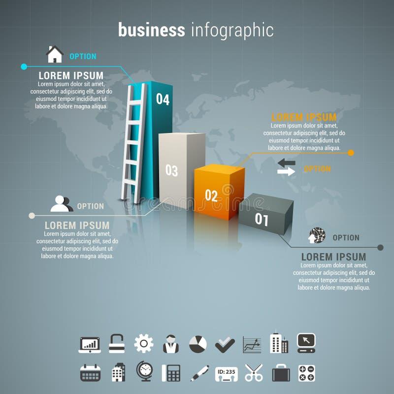 事务Infographic 向量例证