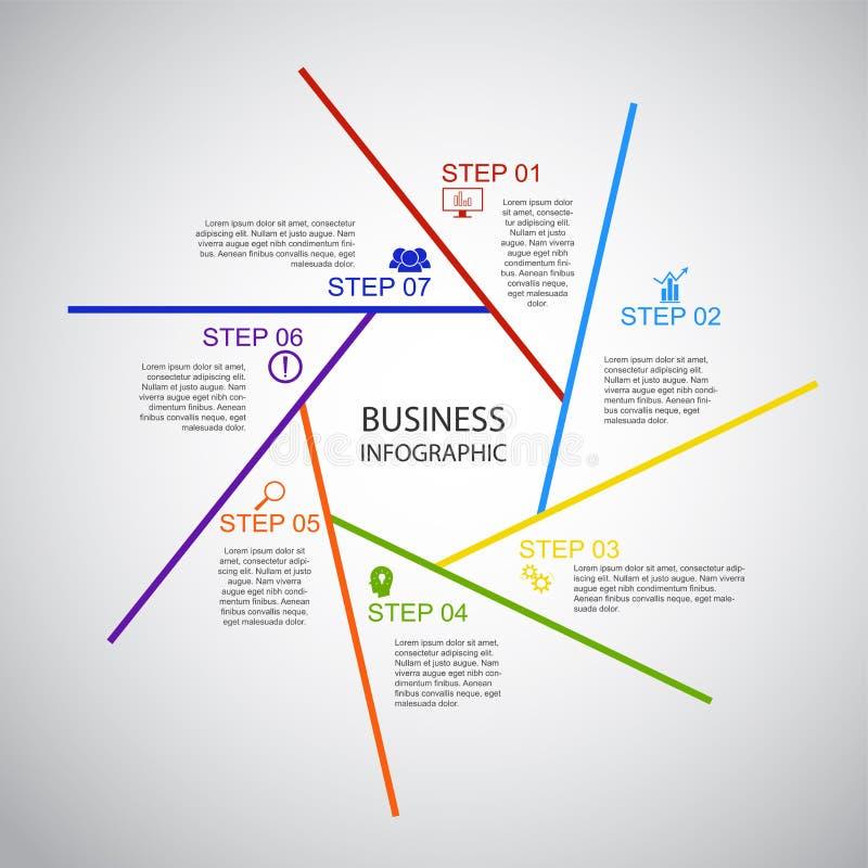 事务InfoGraphics,几何,七边形设计,营销介绍,部分横幅 皇族释放例证