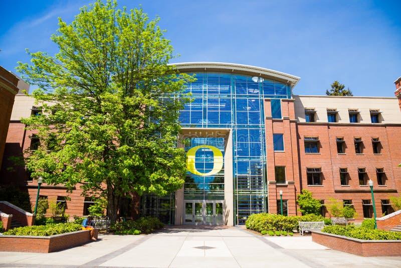 事务Lillis学校在俄勒冈大学的 图库摄影
